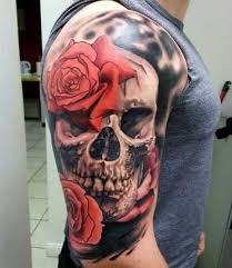 73 stylish skull shoulder tattoos