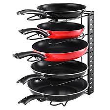 meilleur poele cuisine angker réglable poêle organiseur rack meuble de cuisine pantry pot