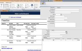 microsoft access family tree genealogy history templates database