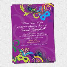 Bridal Invitation Cards Bridal Shower Invitation Printable Mardigras Mardi Gras