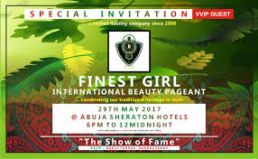Special Invitation Card Finest Nigeria International Beauty Pageant Show Fgni 2015