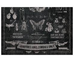 vintage halloween party flyer template original black