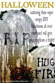 diy halloween tombstones first home love life