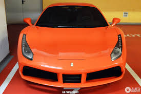 orange ferrari ferrari 488 gtb 6 april 2017 autogespot