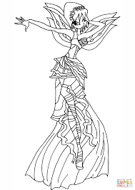 coloring page winx club pages bloomix to print bloom enchantix and