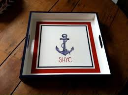 Hand Painted Love Anchors The - custom hand painted trays monogramsonwebster