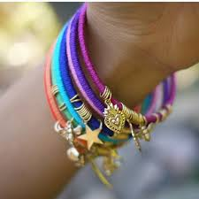 bangle charm bracelet diy images Diy colour charm wrap bangles bracelet collection bracelet jewelry jpg