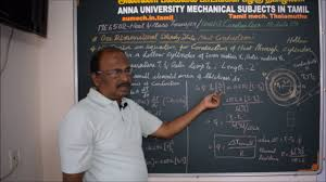 heat and mass transfer tutorial in tamil heat conduction through