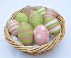 styrofoam easter eggs easy felted polystyrene easter eggs gembelina
