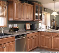 Hickory Kitchen Island Stunning Brown Color Hickory Kitchen Cabinets With High