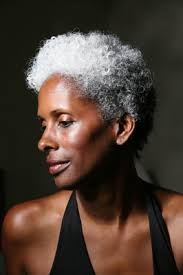how to wear short natural gray hair for black women she has a beautiful silver natural afro i would love to look