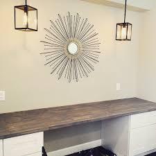 Built In Desk Ideas Diy Built In Desk Using Ikea Butcher Block And Home Depot Desk