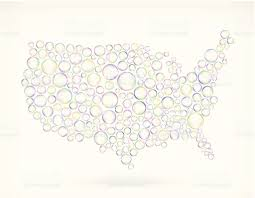 Vector Usa Map by Usa Map On Soap Bubbles Royalty Free Vector Icon Set Stock Vector