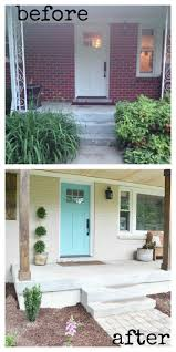 Painted Concrete Porch Pictures by Best 25 Porch Makeover Ideas On Pinterest Front Porch Makeover