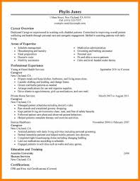 Sample Resume Of Caregiver by 100 Caregiver For Elderly Resume Housekeeping Duties On
