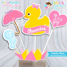 rubber duckie baby shower rubber ducky baby shower centerpiece baby shower girl decor