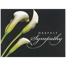 sympathy card jam paper blank sympathy card set deepest sympathy calla lilies