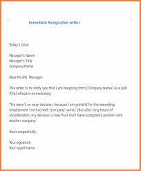 3 immediate resignation letter samples resign letter job