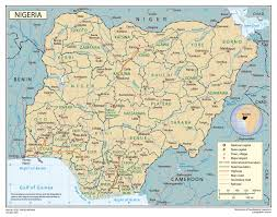 Nigeria Map Africa by Full Political Map Of Nigeria Nigeria Full Political Map