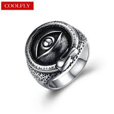 eye rings jewelry images 2018 vintage titanium steel devil eye rings for men gothic style jpg