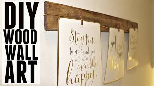 Wall Art by Diy Quick Easy Wood Wall Art Youtube