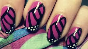 monarch butterfly wing nail art tutorial youtube butterfly nail