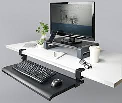 keyboard mount for desk amazon com desk clamp keyboard tray cell phones accessories