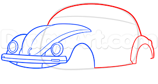 volkswagen drawing how to draw a vw beetle step by step cars draw cars online