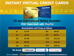 reloadable credit card credit cards vcc many denominations instant delivery