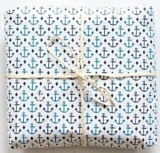 nautical wrapping paper anchor wrapping paper on the hunt