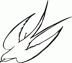 simple drawing of birds drawing simple bird fly clipart best