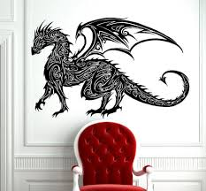 compare prices on dragon wall decal online shopping buy low price tribal tattoo classic chinese dragon wall decal sticker decor wall art vinyl mural tribal antient dragon