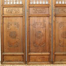 Wooden Screen Panel Partition With Intricate Carvings Room Divider