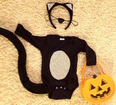 cat costume for halloween homemade sort of cat costume for the baby styled by jess