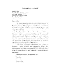 cover letter for customer service examples cover letter for