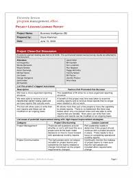 project management lessons learned report professional and high