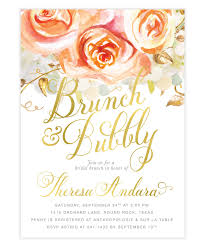 bridal brunch invite brunch bubbly chagne bridal brunch invitation orange