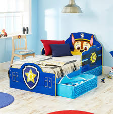 Toddler Bed Frame With Storage Paw Patrol Chase Kids Toddler Bed With Underbed Storage By