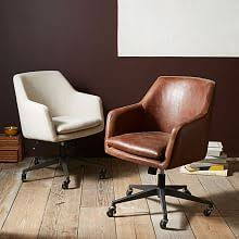Leather Office Desk Modern Desk Chairs West Elm