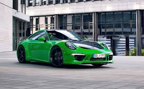green porsche 911 carrera s front view wallpaper car wallpapers