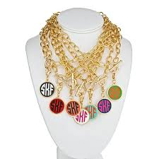 monogram necklace pendant modern monogram enamel charm necklace meg peg