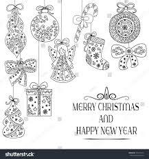 christmas pattern christmas tree decorations angel stock vector