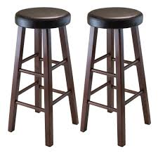 Barstool Cushions Amazon Com Winsome Wood Marta Assembled Round Bar Stool With Pu