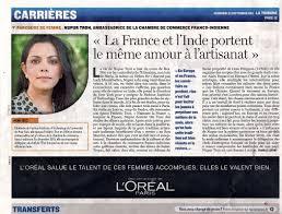 chambre de commerce franco indienne le figaro nupur ambassadrice for culture franco