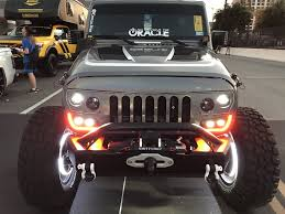 jeep light bar grill oracle lighting vector series full led grill jeep wrangler jk