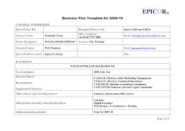 Microsoft Business Plan Templates Easy Business Plan Template Best Template Idea