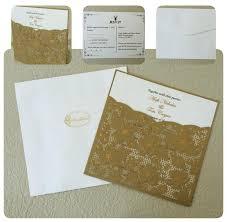 Pocket Wedding Invitations Pocket Wedding Invitations Gold Lace Wedding Invitation Cards