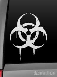 dripping grunge biohazard decal toxic steampunk zombie