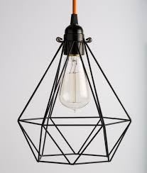 diamond oh so black cage light shade for industrial lights beams