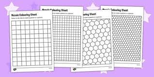 mosaic colouring sheets mosaic worksheets deign a mosaic